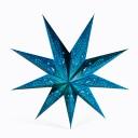 Etoile lumineuse en papier bleu